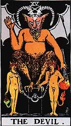 O Diabo - Rider Waite Tarot