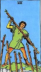 7 de Paus - Raider Waite Tarot