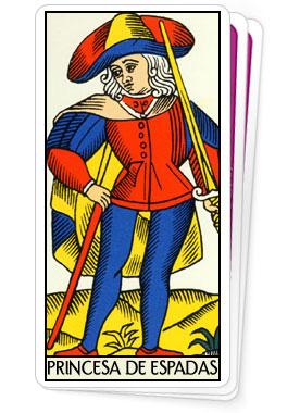 Princesa de Espadas - Tarot de Marselha