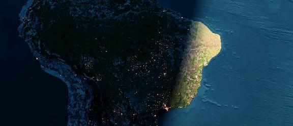 Brasil, de noite