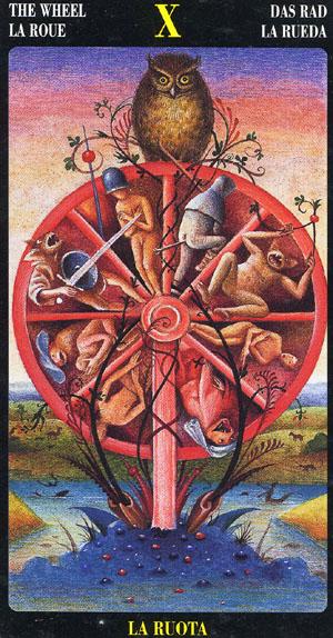 A Roda da Fortuna - Bosch Tarot