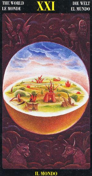O Mundo - Bosch Tarot