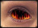 olho pegando fogo
