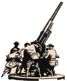 em desenho, canhoneiros de guerra