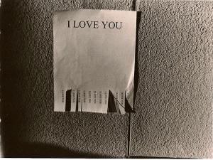 cartaz i love you com tickets destacaveis cinza