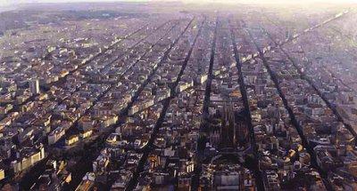 Barcelona, vista aérea, Avenida Diagonal