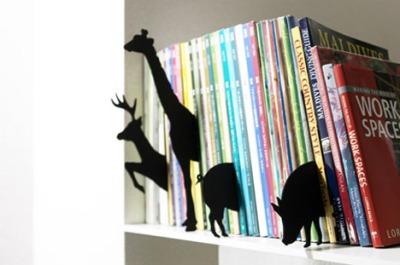 silhuetas de animais, separadores de livros