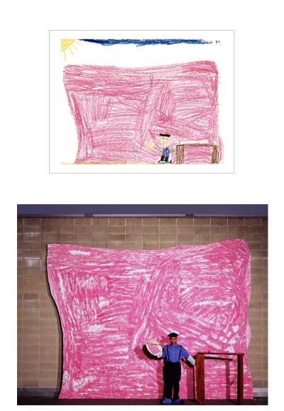 desenho de criança recriado em foto