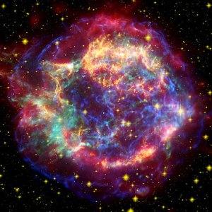 nebulosa de casiopeia violeta esférica