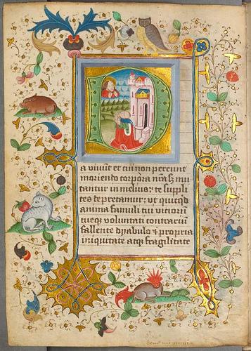 iluminura imagem e texto gótico