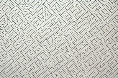 labirinto com caminho zigue zague vertical