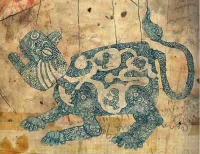 leão antigo pergaminho