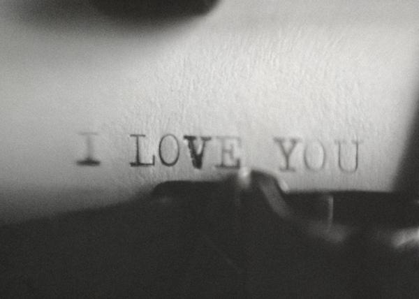 i love you datilografado
