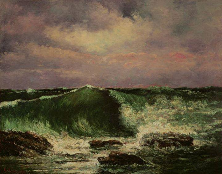 Pintura de ondas, por Gustave Courbet